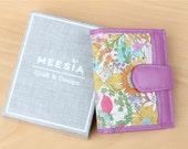 Handmade Leather mini card wallet C-006 /Gift for her/Meesia/Leather card case wallet/Liberty wallet