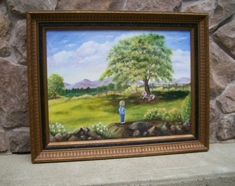 """Original Acrylic on Canvas-""""Put Out to Pasture"""""""