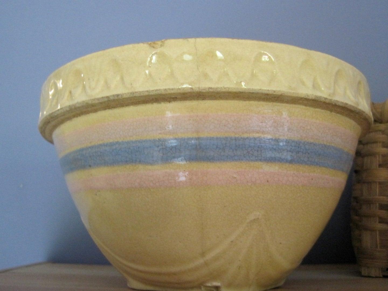 Mccoy Stoneware Mixing Bowl 1930s