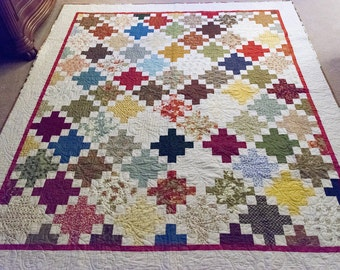 Row By Row Queen bed quilt
