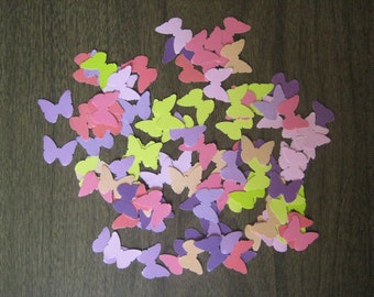 Reclaimed paper confetti butterflies - spring mix