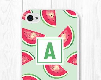 Personalized iPhone 6 Case - Monogram iPhone 5s Case - Watermelon iPhone 5 Case - Custom iPhone 6 Case - Mint iPhone Case - Mint Phone Case