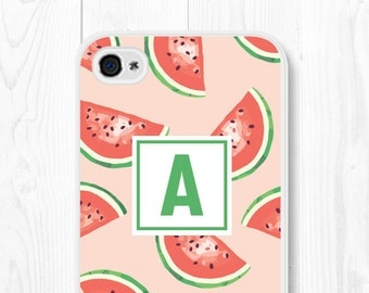 Monogram iPhone 6 Plus Case Pink iPhone 5 Case Fruit iPhone 6 Case Personalized iPhone Case Watermelon iPhone Case Watermelon iPhone 5c Case