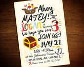 Pirate Birthday Invitation (Printable PDF)