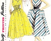 """Vintage 1950s Dress Sewing Pattern - Simplicity 4309 - Misses' Flared, Sleeveless Dress/Sundress in Three Variations - Sz 16/Bust 34"""""""