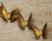 Vintage 70s-80s brass butterflies Wall decor Wall hangings Mid Century Retro