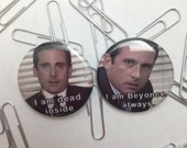 Michael Scott 1.25 is inch button or magnet *you choose 1*
