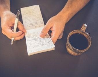 Small, on-the-go handbound notebooks