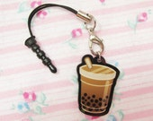 Boba Bubble Milk Tea Charm with Smartphone Connector
