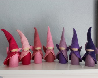 Waldorf Inspired Garden Gnome Birthday Fairy Party Favor