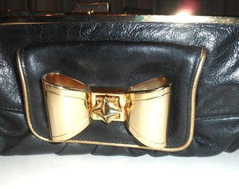 Rare Betsey Johnson Leather clutch Wallet circa 90's