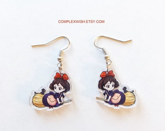 Kiki's Delivery Service earrings - Kiki and Jiji