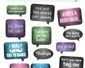 DIY Photo Booth Printables - Chalkboard Signs - WEDDING