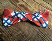 Plaid Little Boy Bow Tie