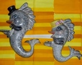 WoW! Vintage ARNEL'S 4pc Wall Hanging Fish SEAHORSE Family!! So FUN!!! Hamm