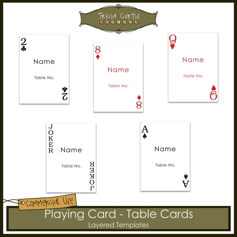 Playing Cards Table Cards Templates From Triciacurtis On