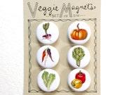 Veggie Magnets, Set of 6