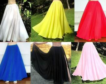 White chiffon skirt | Etsy