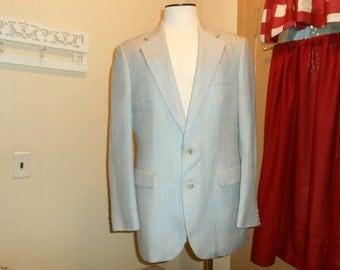 Vintage Designer Ralph Lauren Grey Blue Sports Jacket Mens Vintage Jacket Mens Sport Coat Designer Clothing Mens Vintage Clothing