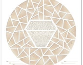 Ice Ring V Papercut Ketubah