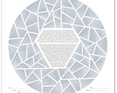 Ice Ring VI Papercut Ketubah