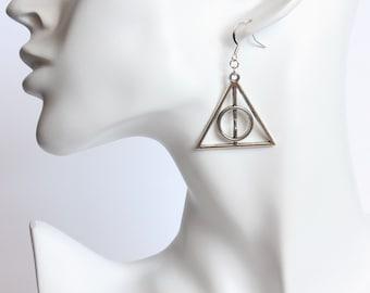 Deathly Symbol Earrings