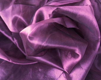"1.5 Yard of 56"" Sugared Plum Purple Organza Fabric Tulle for Bridal Wedding Dress Decor Costumes S111"