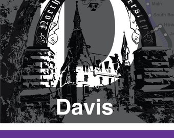 CTA L Stop Sign: Davis (Purple Line) - UPDATED