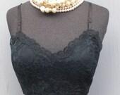 Vintage Slip by Van Raalte / 32 bust, 81cm / short / Black Slip