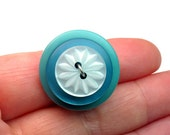 Upcycled Statement Ring, Repurposed Buttons,  Button Jewelry, Size 6 3/4