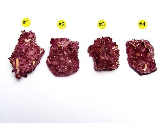JEWELRY buttons (1) Ruby Aura Crystal Arkansas Quartz Lot17 FREE SHIPPING by aurazencrystals