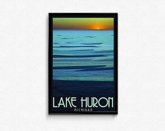 Lake Huron, Michigan 11x17 Print