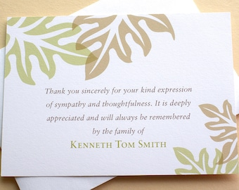 Sympathy Thank You Cards & More Custom by zdesigns0107 on Etsy