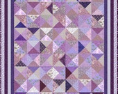 "LAVENDER LADIES - King Single 82"" x 70"" or Single 67"" x 55"" - Quilt-Addicts Pre-cut Quilt Kit or Finished Quilt"