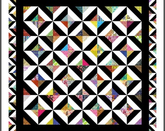 """NEW - NONSENSE - 89"""" x 89"""" - Quilt-Addicts Pre-cut Patchwork Quilt Kit or Finished Quilt Queen size"""