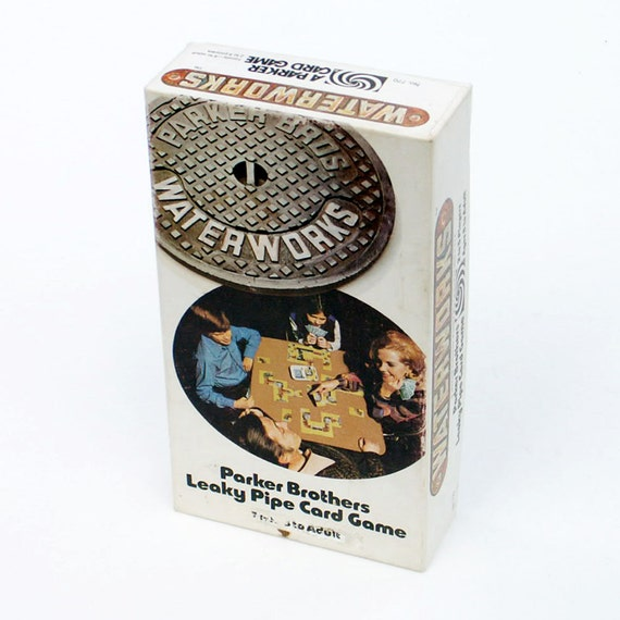 Waterworks leaky pipe card game parker brothers 1972 for The leaky pipe carries more water