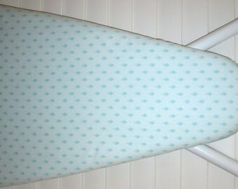 Ironing Board Cover - Standard size - Blue Tone on Tone Dots - Laundry Room