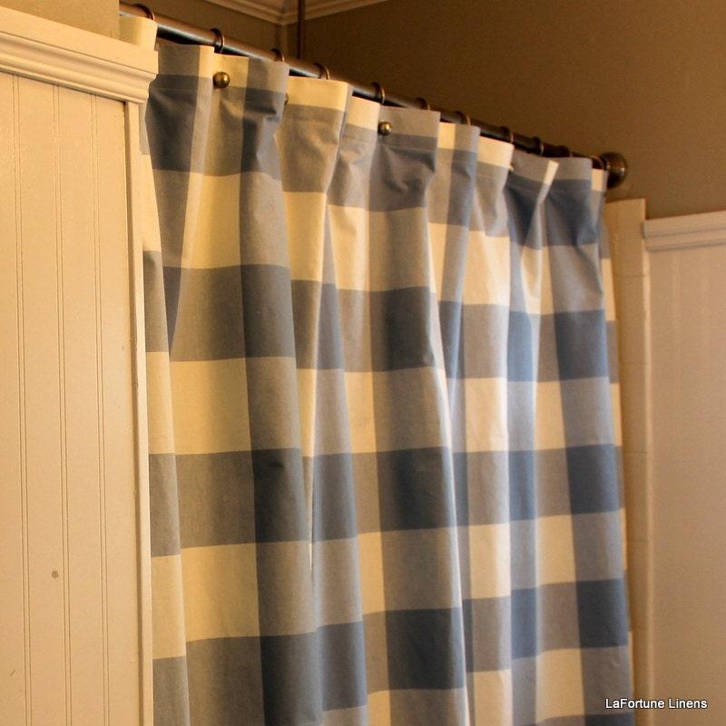 Buffalo Check P Kaufmann Shower Curtain By LaFortuneLinens