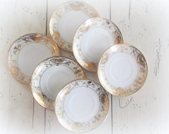 Nippon Noritake Demitasse Saucers Tea Party Plates Wedding Entertaining Events