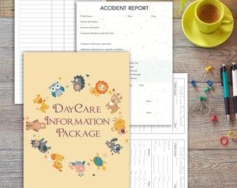 DayCare   ChildCare V2   Babysitting Package   Printable