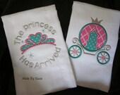 The Princess Has Arrived Burp Cloth Set (2 cloths)