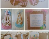 Peter Rabbit 1st Birthday Petite Party Package Beatrix  Potter bunny  Easter 1st birthday party decorations baby shower birthday