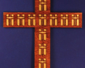 Large Disciples Wood Cross with Backing