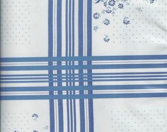 Oslo Blue Oilcloth, Full Bolt of 12 Yards
