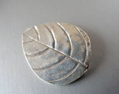 Bali Sterling Silver Leaf Bead Leaves  22mm X 17.5mm