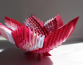 3D origami ombre spiral bowl (4 colors)