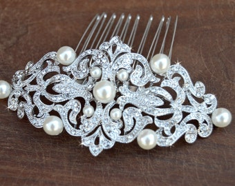 Wedding Hair comb, Bridal Hair Comb, Wedding Hair Accessories, Crystal comb, rhinestone comb, Bridal Crystal hair comb, Victorian headpiece
