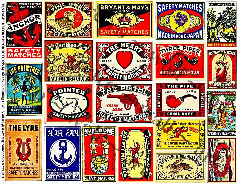 Matchbox Art Printed Matchbook Cover 21 Decorative Matchbox