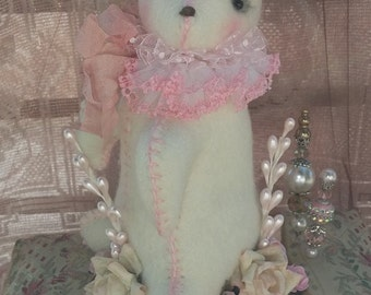 Soft Doll Shabby Pink Rabbit Pin Cushion