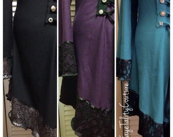 Corset laced lace accent Faye Tality couture hoodie